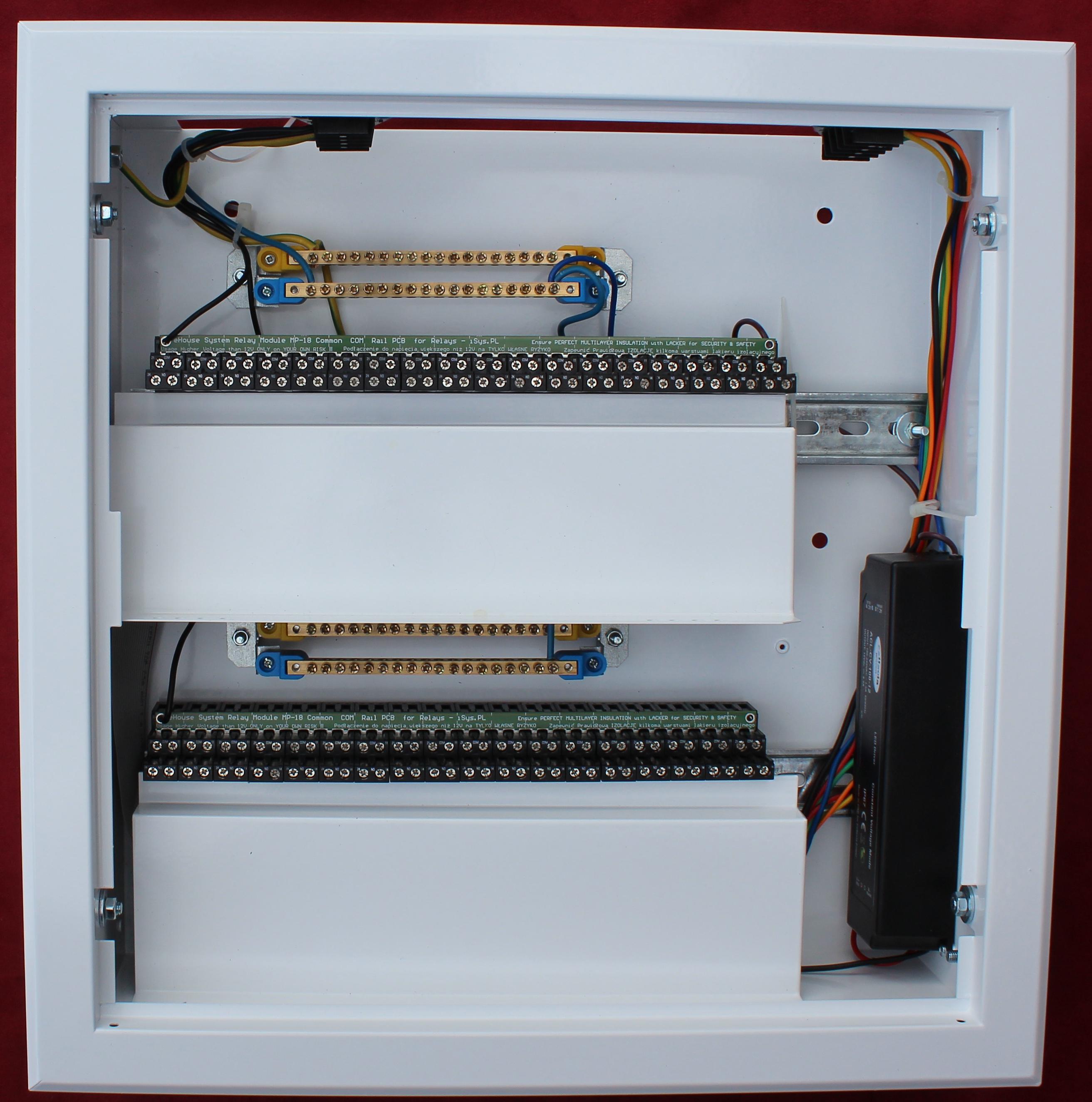 Inteligentny Dom instalacja w minirozdzielni (32+4 wyjścia)